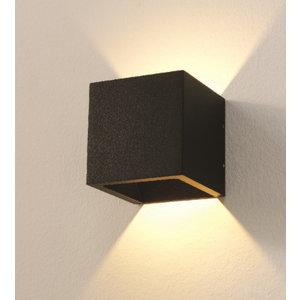 Wandlamp LED Cube Zwart IP54