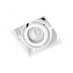 Inbouwspot Vierkant Wit Trimless GU10 Incl. Stucrand