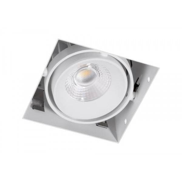 Inbouwspot Vierkant Wit Trimless 7Watt Led Incl. Stucrand