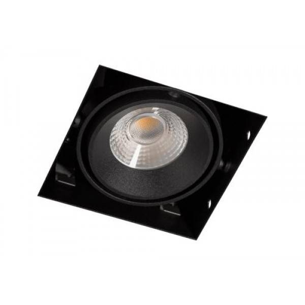 Inbouwspot Vierkant Zwart Trimless 7Watt Led Incl. Stucrand