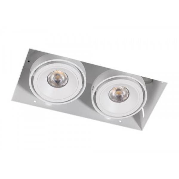 Inbouwspot 2 Lichts Wit Trimless 7Watt Led Incl. Stucrand
