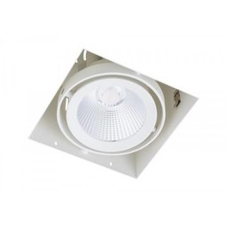 Inbouwspot Vierkant Wit Trimless 15Watt Led Incl. Stucrand