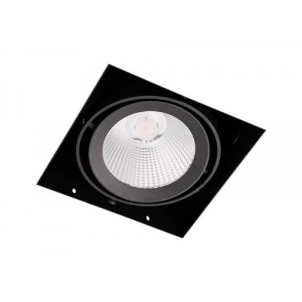 Inbouwspot Vierkant Zwart Trimless 15Watt Led Incl. Stucrand