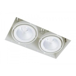 Inbouwspot 2 Lichts Wit Trimless 15Watt Led Incl. Stucrand