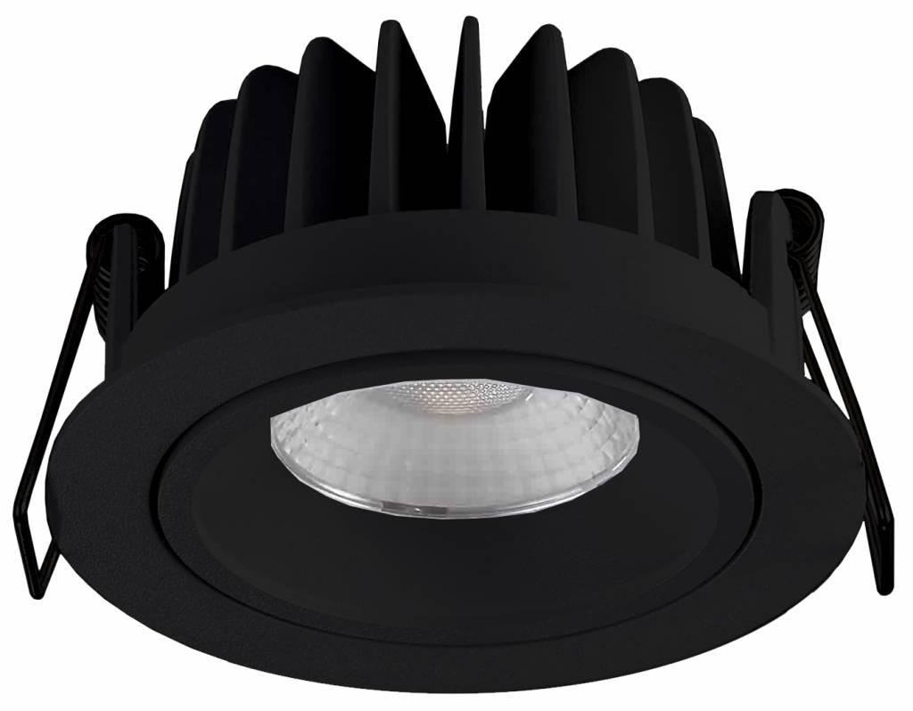 Inbouwspot LED Rond 10Watt IP44 Mat Zwart