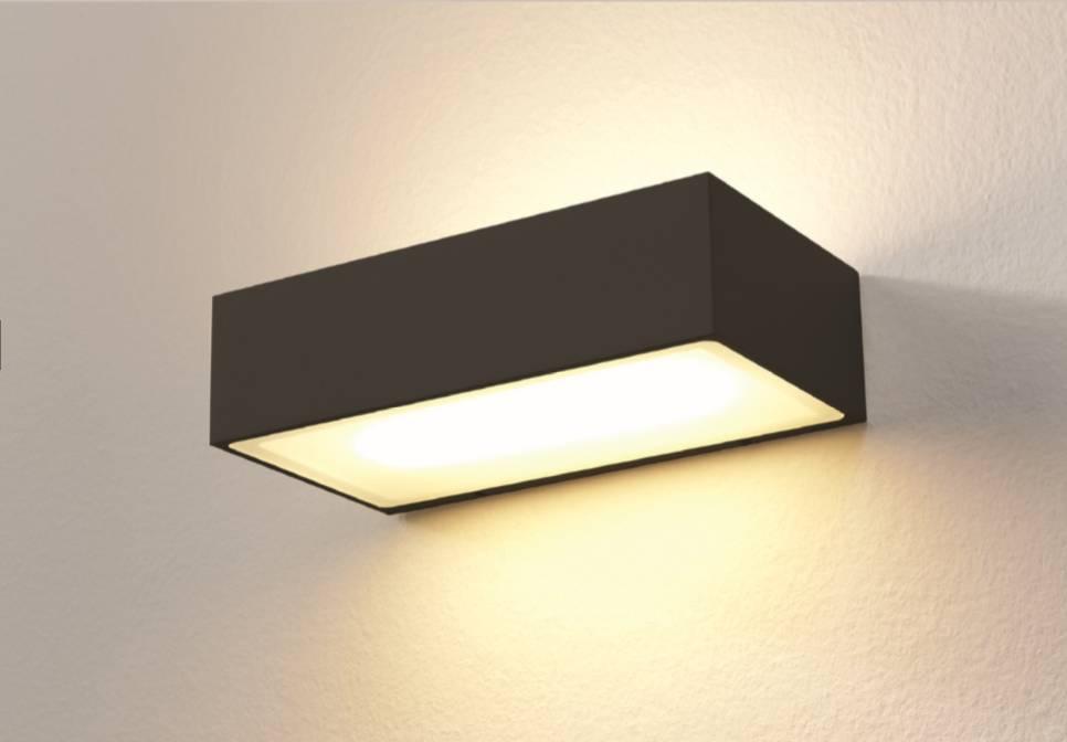 Wandlamp LED Eindhoven 150 Zwart IP54