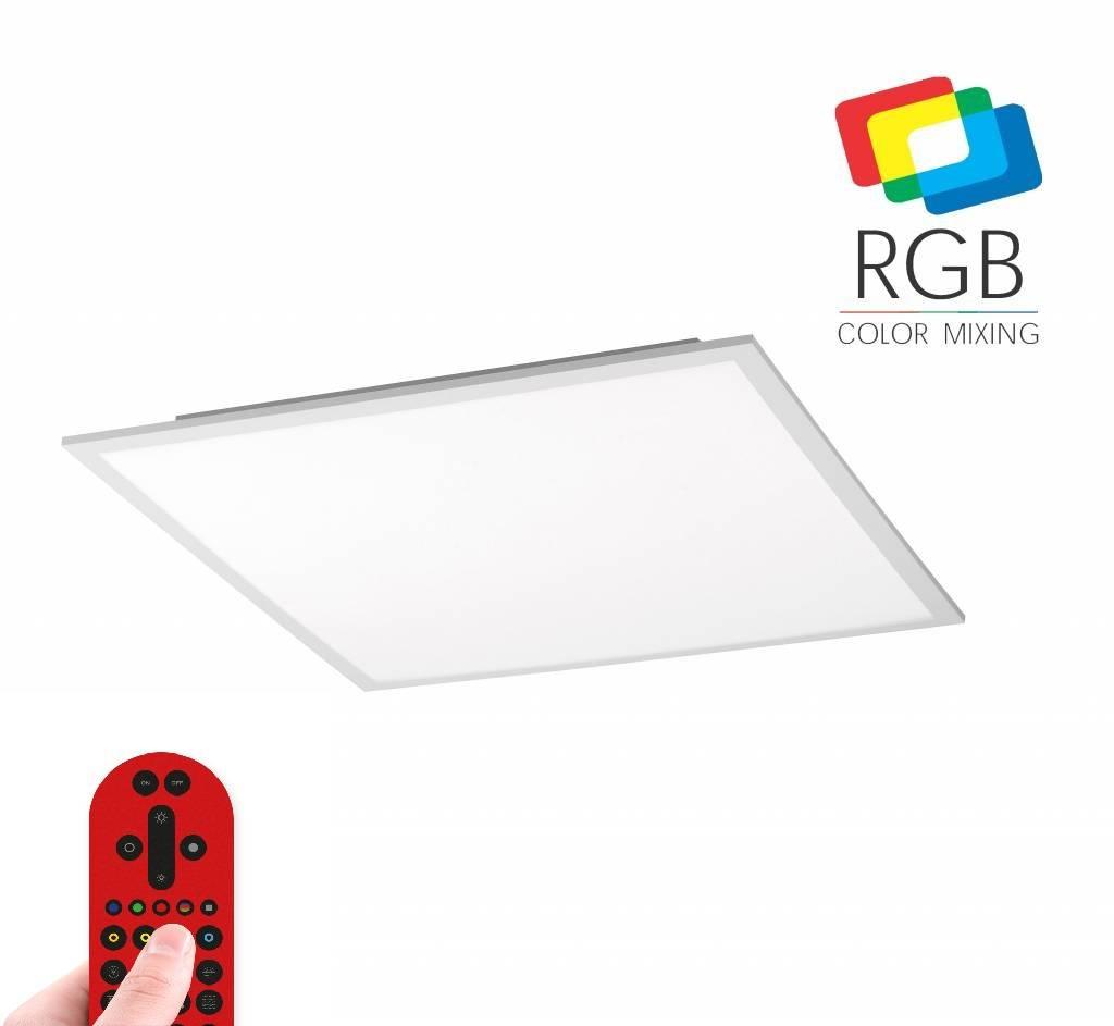Plafondlamp Flat RGB+Wit 45cm incl. Afstandbediening