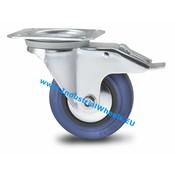 Zestaw obrotowy blokadą, Ø 100mm, elastycznej gumy, 150KG