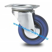 Drejeligt hjul, Ø 125mm, Elastisk gummi, 150KG
