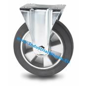 Fast hjul, Ø 200mm, Elastisk gummi, 400KG