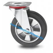Swivel caster, Ø 160mm, elastic-tyre, 300KG