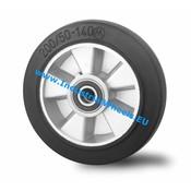 Hjul, Ø 125mm, Elastisk gummi, 250KG