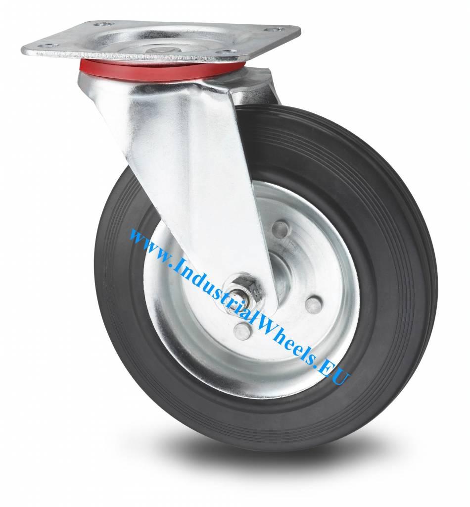 rueda giratoria 80mm goma negra 65kg ruedas a los