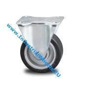 Fast hjul, Ø 125mm, Elastisk gummi, 200KG