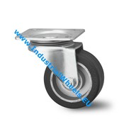 Swivel caster, Ø 125mm, elastic-tyre, 200KG