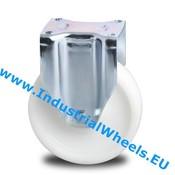 Fixed caster, Ø 125mm, Polyamide wheel, 600KG