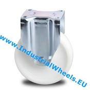 Fixed caster, Ø 200mm, Polyamide wheel, 1000KG