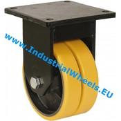Fast hjul, Ø 200mm, Vulkaniseret Polyuretan, 2000KG