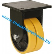 Fast hjul, Ø 400mm, Vulkaniseret Polyuretan, 6000KG