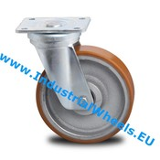 Swivel caster, Ø 125mm, Vulcanized Polyurethane tread, 400KG