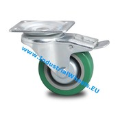 Swivel caster with brake, Ø 100mm, polyurethane-tyre, 250KG