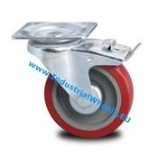 Lenkrolle mit Feststeller, Ø 125mm, polyurethan-reifen, 250KG