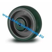 Hjul, Ø 125mm, Polyuretan, 200KG
