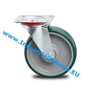 Drejeligt hjul, Ø 200mm, Polyuretan, 300KG