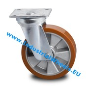 Swivel caster, Ø 125mm, Vulcanized Polyurethane tread, 300KG