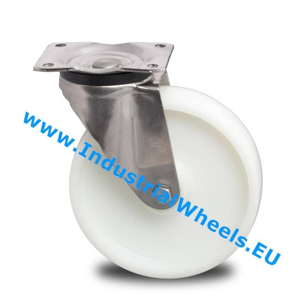 Rueda giratoria 125mm rueda poliamida 450kg ruedas - Pletina de acero ...