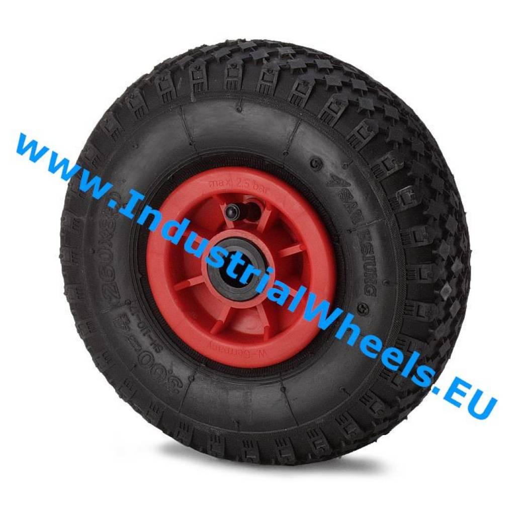 roue 260mm pneumatique profil pav 150kg roues et. Black Bedroom Furniture Sets. Home Design Ideas