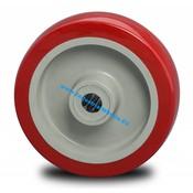 Hjul, Ø 125mm, Polyuretan, 250KG