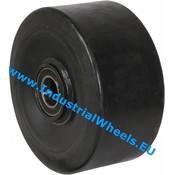 Hjul, Ø 300mm, Vulkaniseret gummi elastisk dæk, 2500KG