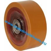 Hjul, Ø 250mm, Vulkaniseret Polyuretan, 4000KG