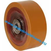 Hjul, Ø 300mm, Vulkaniseret Polyuretan, 5000KG