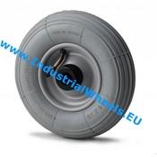 Hjul, Ø 180mm, Dæk langrillet profil, 50KG