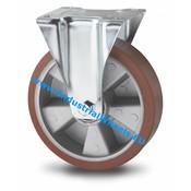 Fast hjul, Ø 200mm, Vulkaniseret Polyuretan, 400KG