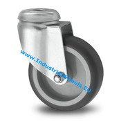 Lenkrolle, Ø 50mm, Thermoplastischer Gummi grau-spurlos, 50KG