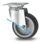 Zestaw obrotowy, Ø 75mm, termoplastyczna guma szara, niebrudząca, 75KG