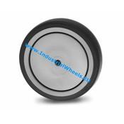 Hjul, Ø 100mm, grå termoplastisk gummi afsmitningsfri, 100KG