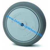 Hjul, Ø 80mm, grå termoplastisk gummi afsmitningsfri, 100KG
