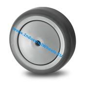Hjul, Ø 50mm, grå termoplastisk gummi afsmitningsfri, 50KG