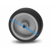 Hjul, Ø 75mm, grå termoplastisk gummi afsmitningsfri, 75KG