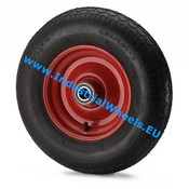 Wheel, Ø 405mm, pneumatic tyre block profile, 400KG