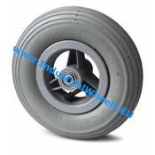 Hjul, Ø 150mm, Dæk langrillet profil, 75KG