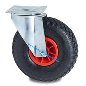 Swivel caster, Ø 260mm, pneumatic tyre block profile, 150KG