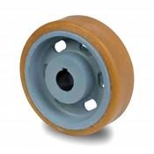 Drivhjul, Hjulfælg Vulkollan® Bayer hjulbane støbegods, Ø 360x65mm, 1850KG