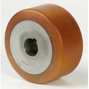 Drivhjul, Hjulfælg Vulkollan® Bayer hjulbane støbegods, Ø 100x65mm, 575KG