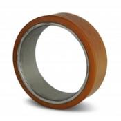 Vulkollan® cylindrical press-on tyres, Ø 125x50mm, 550KG