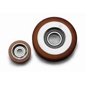 Vulkollan® Fuhrungsrollen Vulkollan® Bayer  Lauffläche Radkörper aus Stahl, Ø 90x25mm, 190KG